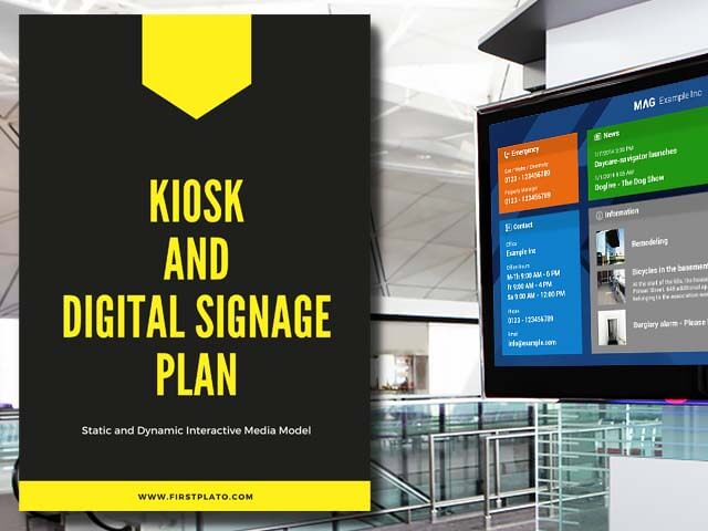 Kiosk - Digital Signage Plan